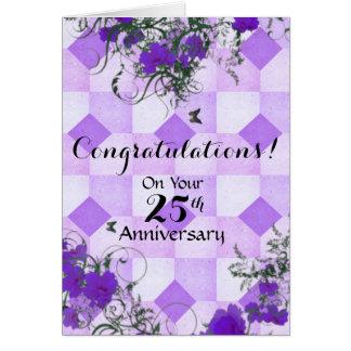 Enhorabuena - 25 años en negocio tarjeta de felicitación