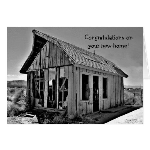 Enhorabuena casera divertida de la caba a nueva felicitaciones for La cabana divertida