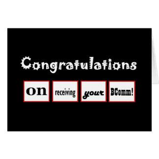 Enhorabuena CONOCIDA DE ENCARGO - la licenciatura Felicitación