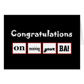 Enhorabuena CONOCIDA DE ENCARGO - la licenciatura Tarjeton