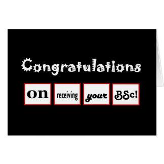 Enhorabuena CONOCIDA DE ENCARGO - la licenciatura Tarjeta De Felicitación
