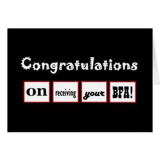 Enhorabuena CONOCIDA DE ENCARGO - la licenciatura Felicitacion