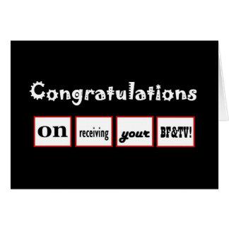 Enhorabuena CONOCIDA DE ENCARGO - la licenciatura Tarjetas