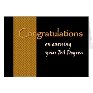 Enhorabuena CONOCIDA DE ENCARGO - licenciatura de  Tarjetas