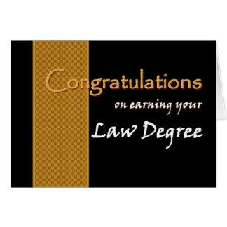 Enhorabuena CONOCIDA DE ENCARGO - licenciatura de  Tarjeta
