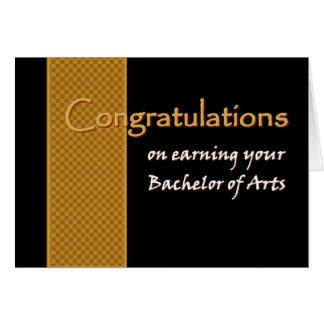Enhorabuena CONOCIDA DE ENCARGO - soltero de artes Felicitación