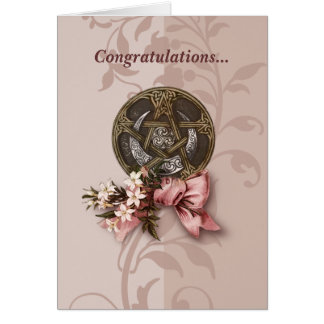 Enhorabuena de Handfasting Tarjeta