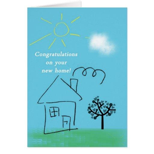 Enhorabuena de la casa del Doodle en nuevo hogar Tarjetas