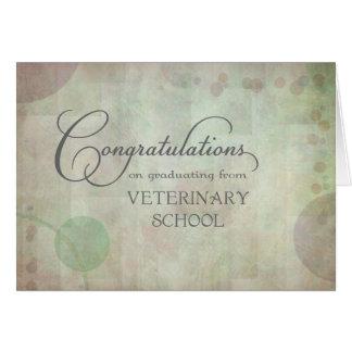 Enhorabuena de la escuela veterinaria tarjetón