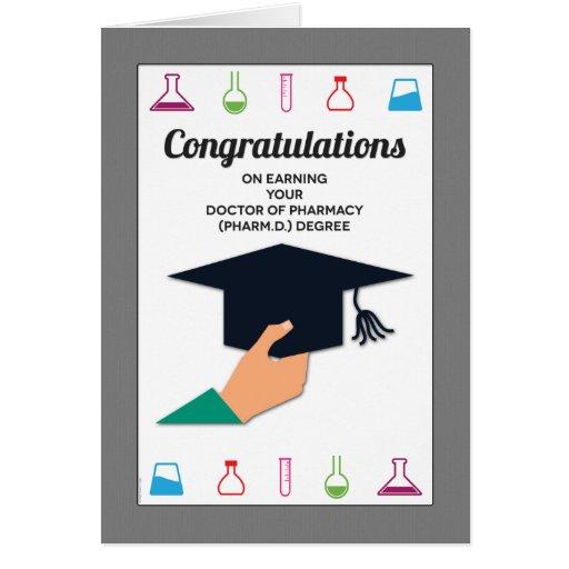 Enhorabuena de la graduación de la escuela de la f felicitación