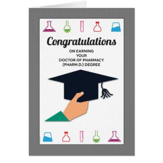 Enhorabuena de la graduación de la escuela de la tarjeta