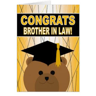 Enhorabuena de la graduación para el cuñado tarjeta de felicitación