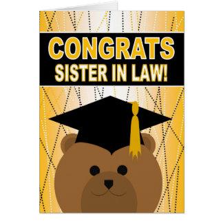 Enhorabuena de la graduación para la cuñada tarjeta de felicitación