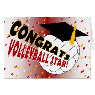 Enhorabuena de la graduación para una estrella del tarjeta de felicitación
