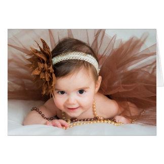 Enhorabuena de la niña tarjeta de felicitación