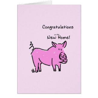 Enhorabuena de la tarjeta de felicitación en el