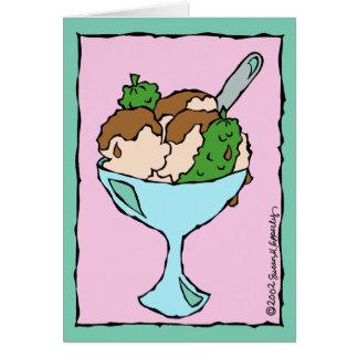 Enhorabuena de las salmueras y del helado en tarjeta