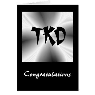Enhorabuena de los artes marciales TKD Tarjeta Pequeña