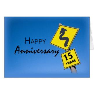 Enhorabuena del aniversario del empleado de 15 tarjeta de felicitación