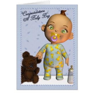 Enhorabuena del bebé tarjeta de felicitación