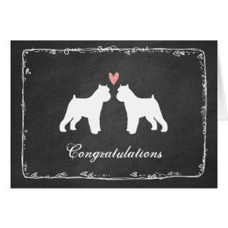 Enhorabuena del boda de Bruselas Griffons Tarjeta De Felicitación