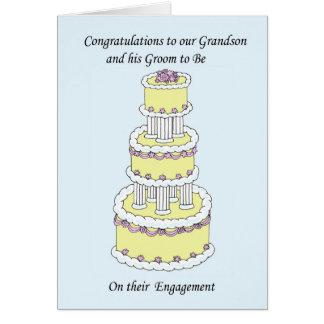 Enhorabuena del compromiso de la nieta y de la tarjetas