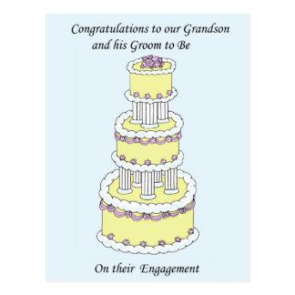 Enhorabuena del compromiso del nieto y del marido postal