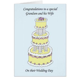 Enhorabuena del día de boda del nieto y de la felicitacion