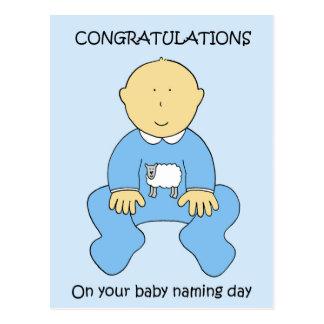 Enhorabuena del día de nombramiento del bebé postal