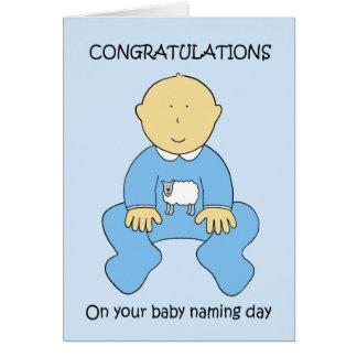 Enhorabuena del día de nombramiento del bebé tarjeta de felicitación