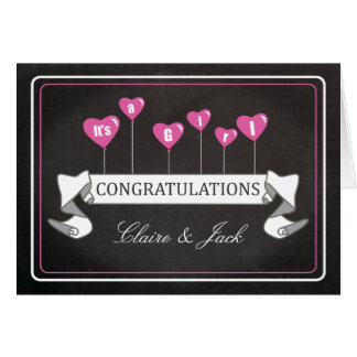 Enhorabuena del embarazo es un nuevo bebé del tarjeta de felicitación