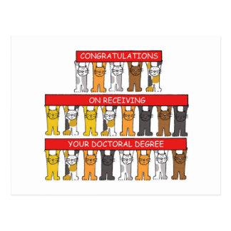 Enhorabuena del grado doctoral postal