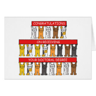 Enhorabuena del grado doctoral tarjeta de felicitación