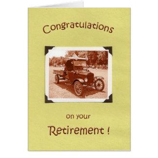 Enhorabuena del retiro felicitación