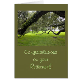 Enhorabuena del retiro tarjeta de felicitación