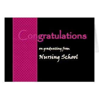 ENHORABUENA - diplomado de escuela de enfermería Tarjeta De Felicitación