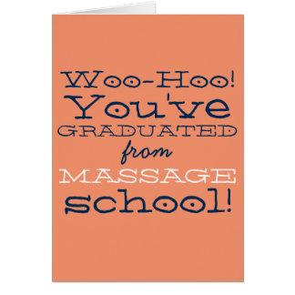 Enhorabuena divertida de la graduación de la tarjeta de felicitación