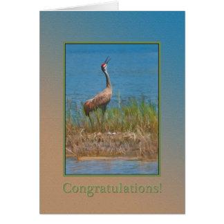 Enhorabuena, embarazo, mamá orgullosa Crane Tarjeta De Felicitación