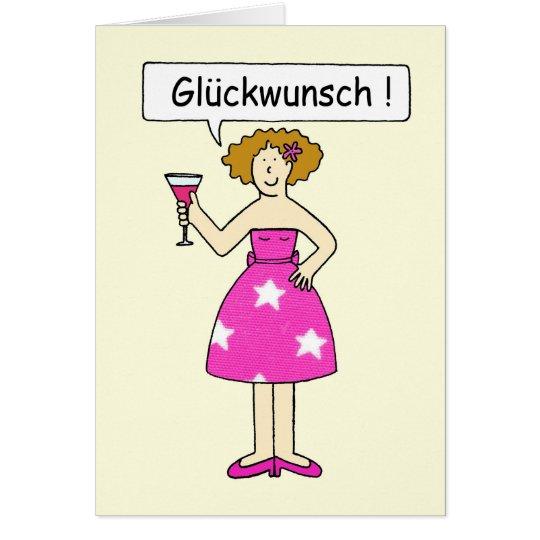 Enhorabuena en alemán tarjeta de felicitación