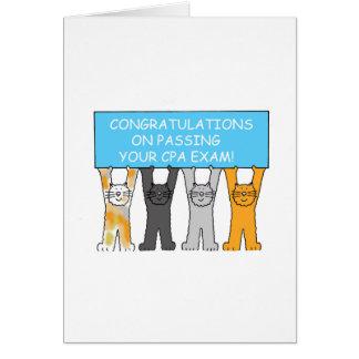 Enhorabuena en aprobar el examen de CPA Tarjeta