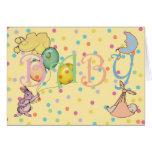Enhorabuena en el nacimiento de su nuevo bebé tarjeta