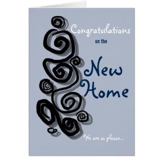 Enhorabuena en el nuevo hogar estamos tan tarjeta de felicitación