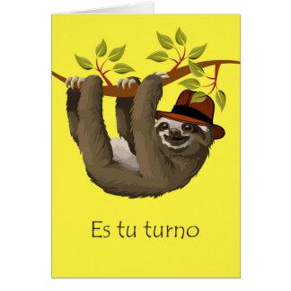 Enhorabuena en el retiro en español, pereza tarjeta de felicitación