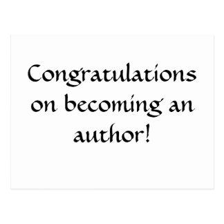 ¡Enhorabuena en hacer un autor! Postal
