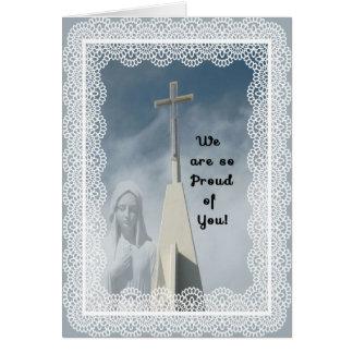 Enhorabuena en hacer una tarjeta de la monja