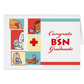 Enhorabuena en la graduación, grado de BSN, Tarjeta De Felicitación