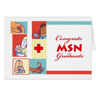 Enhorabuena en la graduación, grado de MSN, Tarjeta De Felicitación