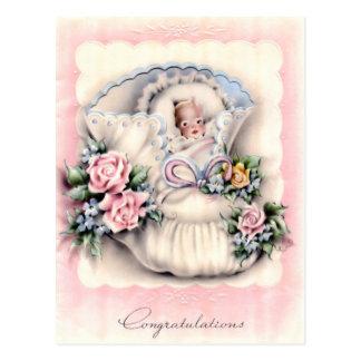 Enhorabuena en la nueva postal del bebé