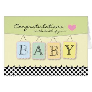 Enhorabuena en la tarjeta de felicitación del