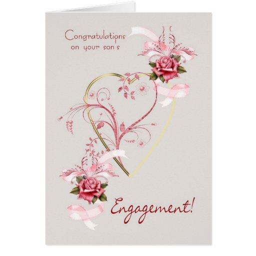 Enhorabuena en los rosas del compromiso de su hijo felicitaciones